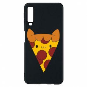 Etui na Samsung A7 2018 Pizza cat