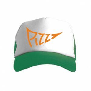 Czapka trucker dziecięca Pizza inscription