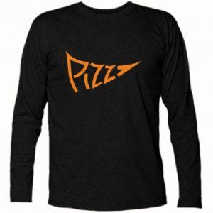 Koszulka z długim rękawem Pizza inscription