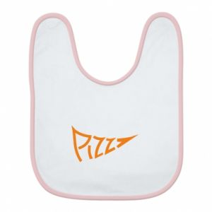 Śliniak Pizza inscription