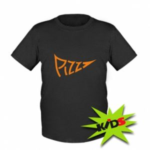 Dziecięcy T-shirt Pizza inscription