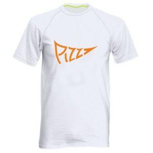 Męska koszulka sportowa Pizza inscription