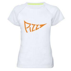 Damska koszulka sportowa Pizza inscription