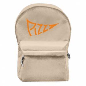 Plecak z przednią kieszenią Pizza inscription