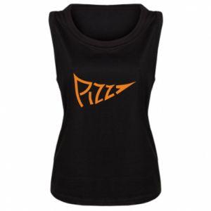 Damska koszulka bez rękawów Pizza inscription