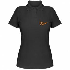 Damska koszulka polo Pizza inscription