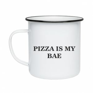 Enameled mug PIZZA IS MY BAE