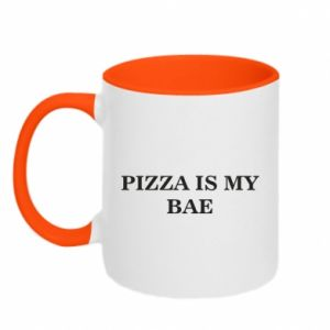 Kubek dwukolorowy PIZZA IS MY BAE