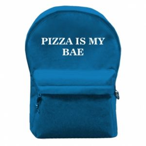 Backpack with front pocket PIZZA IS MY BAE