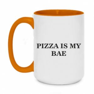 Two-toned mug 450ml PIZZA IS MY BAE