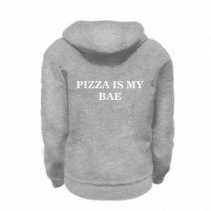 Kid's zipped hoodie % print% PIZZA IS MY BAE