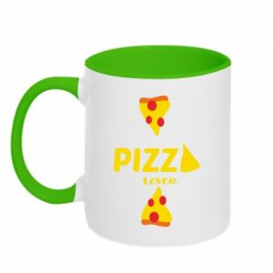 Two-toned mug Pizza lover