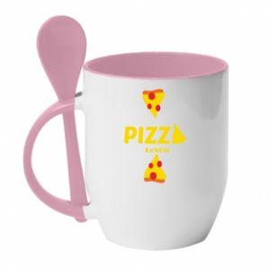 Kubek z ceramiczną łyżeczką Pizza lover