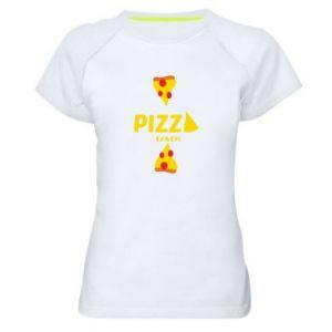 Koszulka sportowa damska Pizza lover