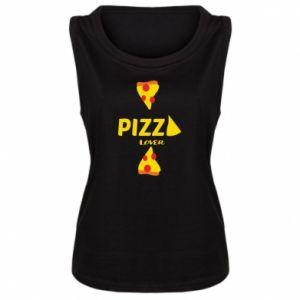 Damska koszulka bez rękawów Pizza lover