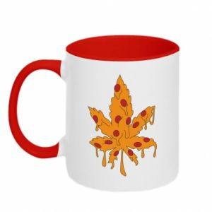Two-toned mug Pizza marijuana