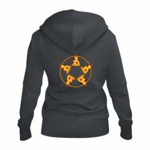 Damska bluza na zamek Pizza pentagram