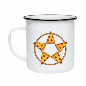 Kubek emaliowane Pizza pentagram