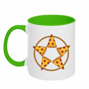 Kubek dwukolorowy Pizza pentagram