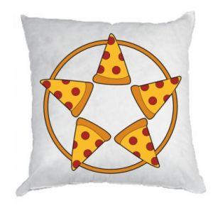 Poduszka Pizza pentagram