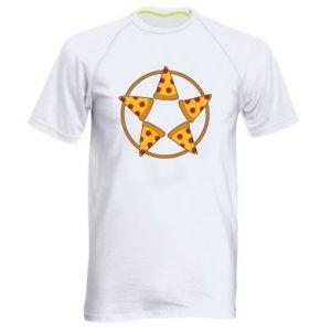 Męska koszulka sportowa Pizza pentagram