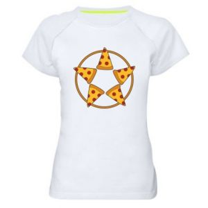 Damska koszulka sportowa Pizza pentagram