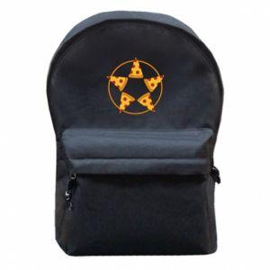 Plecak z przednią kieszenią Pizza pentagram