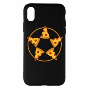 Etui na iPhone X/Xs Pizza pentagram