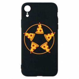 Etui na iPhone XR Pizza pentagram