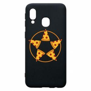 Etui na Samsung A40 Pizza pentagram