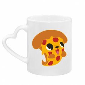 Kubek z uchwytem w kształcie serca Pizza Puppy