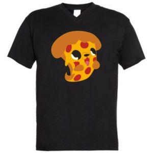 Męska koszulka V-neck Pizza Puppy