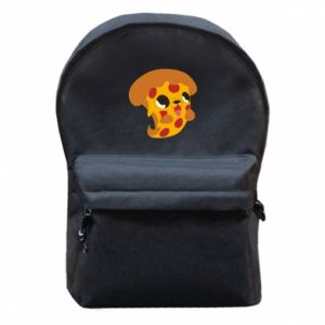 Backpack with front pocket Pizza Puppy - PrintSalon