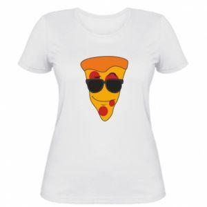 Damska koszulka Pizza with glasses