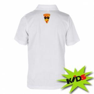 Dziecięca koszulka polo Pizza with glasses