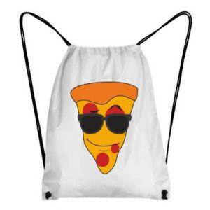 Plecak-worek Pizza with glasses