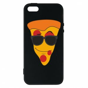 Etui na iPhone 5/5S/SE Pizza with glasses