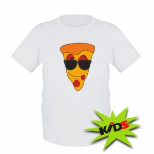 Dziecięcy T-shirt Pizza with glasses