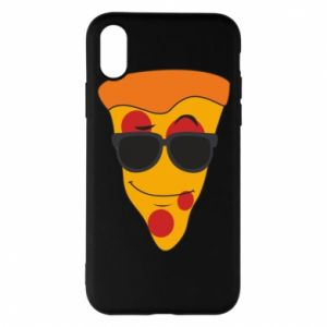 Etui na iPhone X/Xs Pizza with glasses
