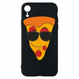 Etui na iPhone XR Pizza with glasses