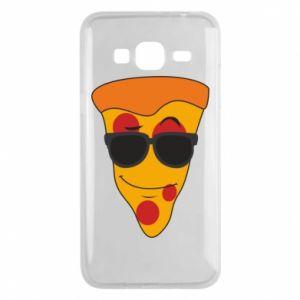 Etui na Samsung J3 2016 Pizza with glasses