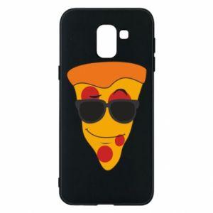 Etui na Samsung J6 Pizza with glasses