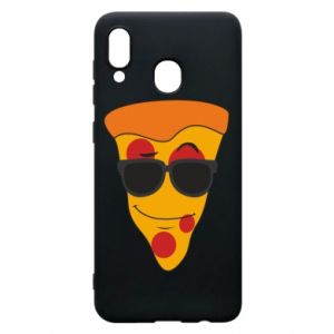 Etui na Samsung A20 Pizza with glasses