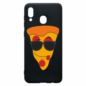Etui na Samsung A30 Pizza with glasses