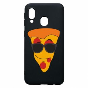 Etui na Samsung A40 Pizza with glasses