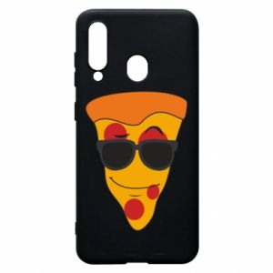 Etui na Samsung A60 Pizza with glasses