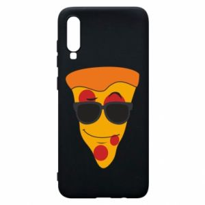 Etui na Samsung A70 Pizza with glasses