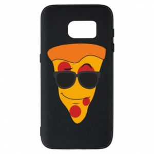Etui na Samsung S7 Pizza with glasses