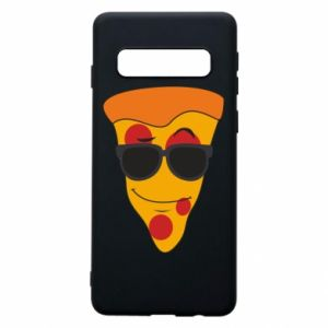 Etui na Samsung S10 Pizza with glasses