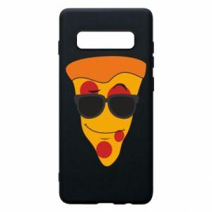Etui na Samsung S10+ Pizza with glasses